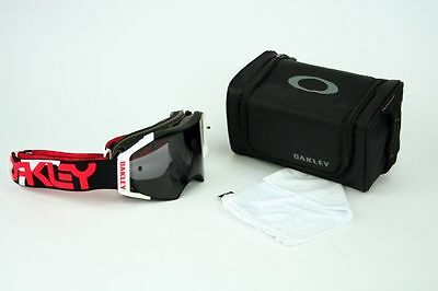 Oakley Airbrake MX Factory B1B Red Black Dark Grey OO7046-17 Enduro DH Goggle