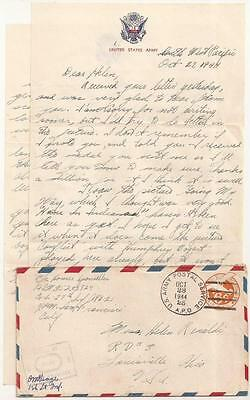 WWII Letter. 25th Infantry Division. Killed in Action 1945 on Luzon, Philippines