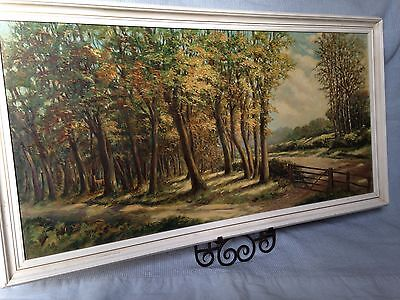 Large original oil painting signed Lanscape