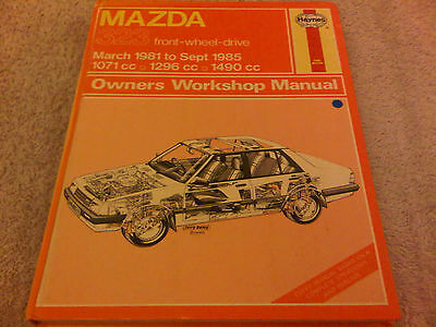 Mazda 323 Front Wheel Drive 1981 to 1985 Haynes Owners Workshop Manual