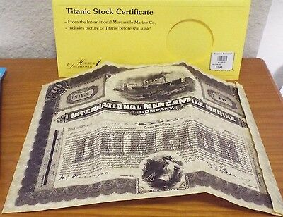 Titanic Stock Certificate (reproduction)