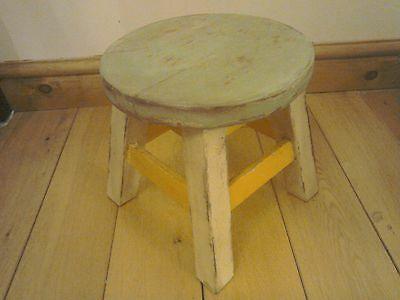Antique french shabby chic stool small
