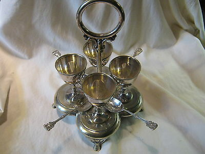 Antique Burton Football Club Athletic Sports Trophy Plated Egg Cup Stand 1880