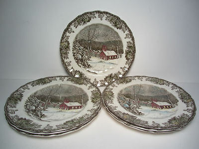 Johnson Brothers China Friendly Village 7 Dinner Plates School House England!