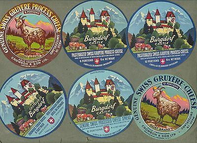 Selection of all different cheese labels Fromage formaggio #487