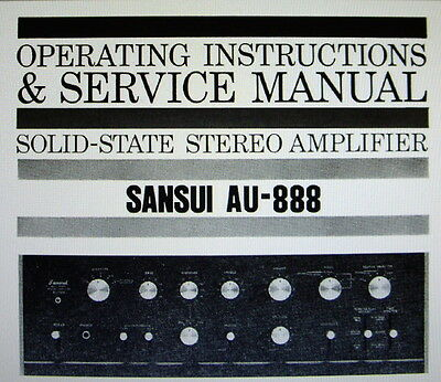 Sansui Au-888 Ss St Amp Operating Instructions And Service Manual Bound English