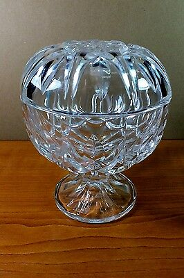Cut Crystal Glass Sweet Dish/Bowl With Lid