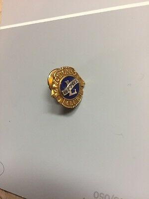 Lions Club Vice President Pin - Sterling Silver