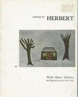 Paintings By Herbert At Age 6 Art Catalog 1958