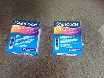 one touch ultra testing strips 100 (2x50)