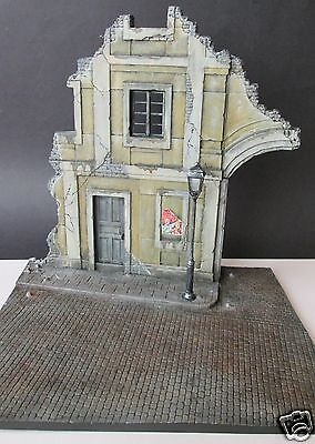 Built 1/35 Scale Diorama base of a Ruined German Building- from Miniart 36049