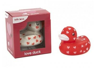 Bath Duck Love Hearts Red Or White Valentines Gift New Toy Novelty Funny Idea