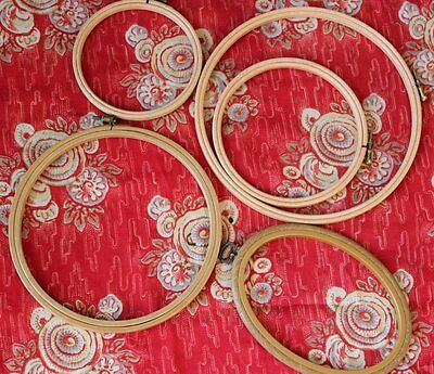 Collection of 5 vintage embroidery loop