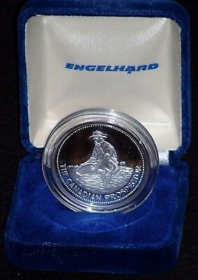 ULTRA RARE Engelhard Canadian Prospector 1 Oz Silver Round IN ORIGINAL PACKAGING