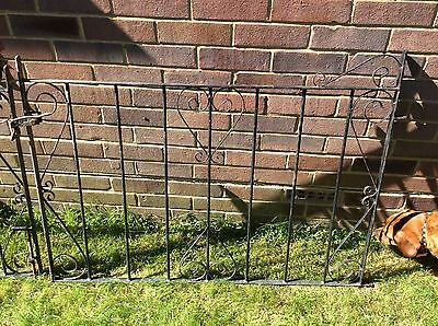 Heavy old original vintage wrought iron double drive gates garden .