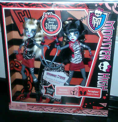 Monster High DOll Werecats, Purrsephone y Meowlody