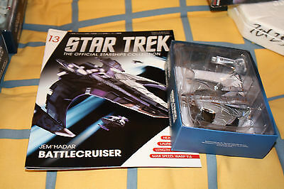 Star Trek Eaglemoss Starship issue 13 Jem Hadar Battle Cruiser Brand New