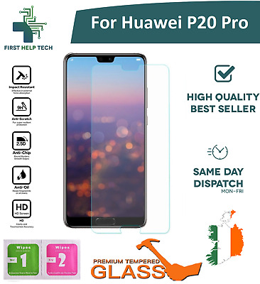 For Huawei P20 Pro - Premium Tempered Glass Screen Protector Guard Film