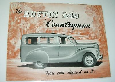 Old Austin A40 ' Countryman ' Car Sales Brochure- Export Issue.