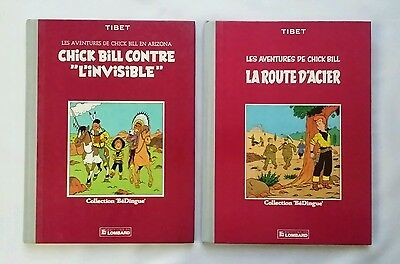 Lot BD - Chick Bill 1 la route d'acier & 3 contre l'invisible / TIBET / BéDingue