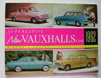 Old Sales Poster - Brochure For Vauxhall Cars - 1962.