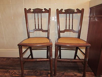 Antique / vintage chairs with cane seat