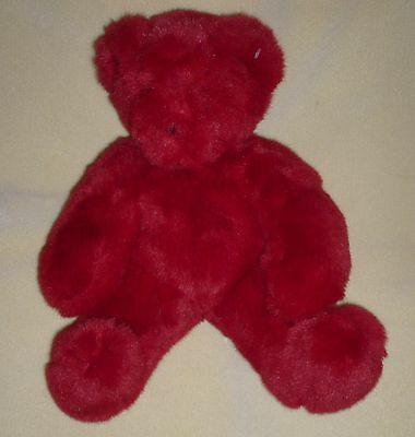 """Vermont TEDDY BEAR FRIEND FOR LIFE RED Plush Born Abroad Vietnam 12"""""""