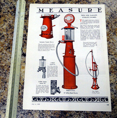 Correct Measure Model 10 Visible Gas Pump Color Magazine Ad - 105- FREE SHIPPING