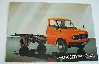 Old Commercial Vehicle Sales Brochure - Ford ' A ' Series.