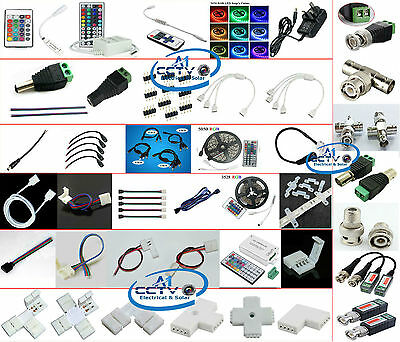 3528 5050 Single Color RGB LED Light Strip 2Pin 4Pin Connector Cable & Accessory