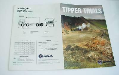 Old Commercial Vehicle Brochure - Scania Trucks Tipper Trials.