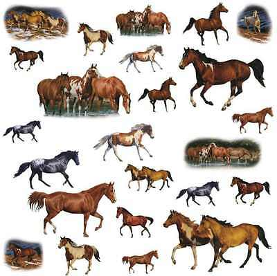 Removable Decal Art Mural Home Room Decor Wall Sticker Animal Horses Peel Stick