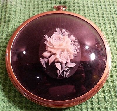 Roses in Cameo by Miniature World of Peter Bates. Wall Plaque. Immaculate.
