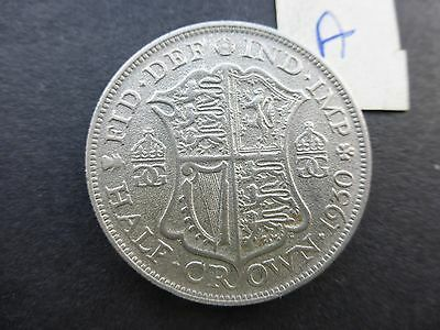 George v silver Half crown coin 1930 key date good filler A