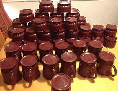 Mixed LOT (59) Turnbury Dinex Insulated Cranberry 9oz Bowl 5oz Bowl 8oz Mug Cups