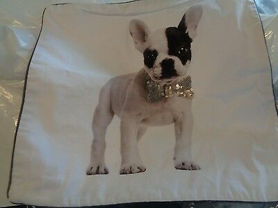 """Pottery Barn Teen ASPCA Party Dog pillow cover 18"""" Frenchie New with tags"""