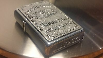 Zippo Lighter Jack Daniels Emblem Chrome & Pewter Slate