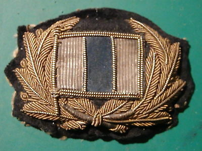 Merchant Navy Cap Badge,  Unidentified old shipping Co.Silver Blue Silver