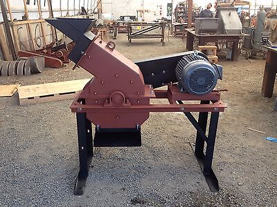 "Hammer Mill Electric 16"" x 12"" 15hp, for Mining, Scrap Metal, etc. 1 TPH"