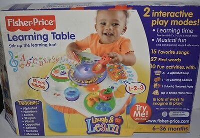 NEW Fisher Price Learning Table