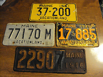 Maine License Plate Lot