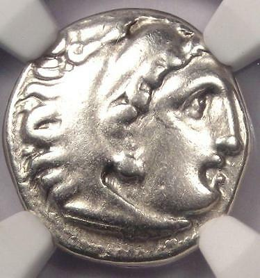 Alexander the Great III AR Drachm Coin 336 BC - Certified NGC VF - Rare!