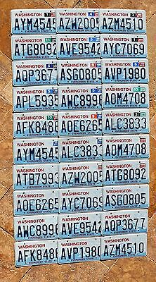 "Lot of 30 WASHINGTON "" EVERGREEN STATE "" BULK SET mixed WA Graphic License Plate"