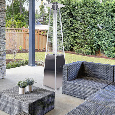 """Garden Radiance GRP3500SS """"Dancing Flames"""" Stainless Steel Pyramid Patio Heater"""