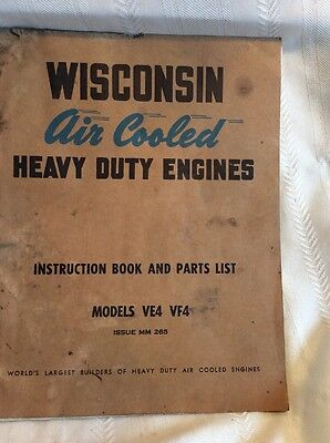Vintage Wisconsin Air Cooled Heavy Duty Engines Model VE4 VF4