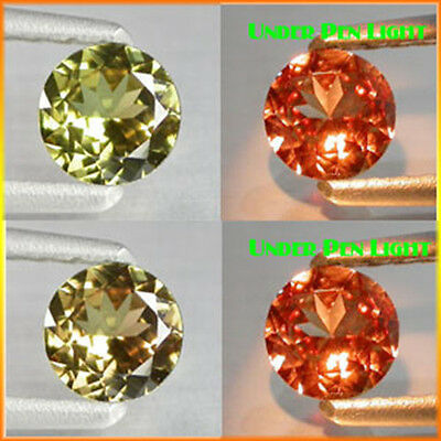 0.94Cts Best Quality Gem - Natural Olive Yellow 2 Red Color CHANGE GARNET - LY11
