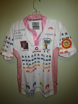rare Hong Kong Pot Bellied Pigs RFC Rugby player issue pink jersey shirt