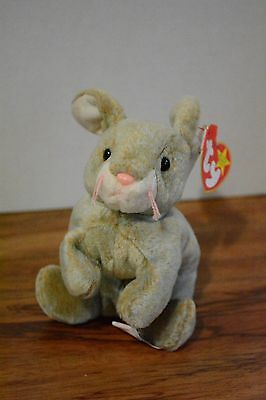 Ty Beanie baby original 1998 Nibbly rabbit with four tag errors