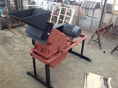 "Hammer Mill Electric 24"" x 16""  30hp, for Mining, Scrap Metal, etc. 2 TPH"