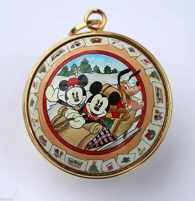 3 Disney Mickey Mouse Christmas Ornaments By Halcyon Days Enamels